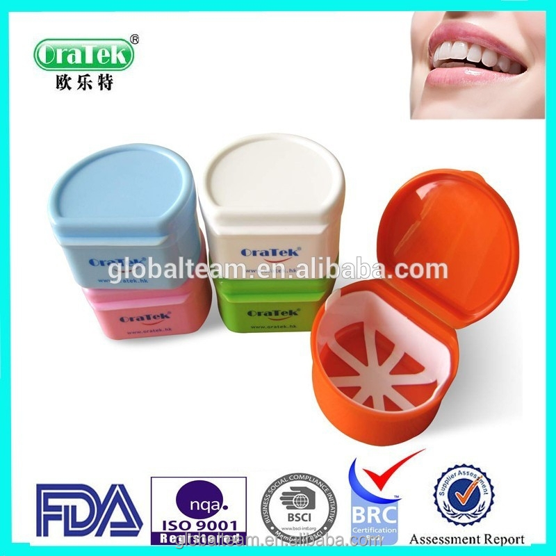 OEM Color China Plastic Denture Box Color Varied Dental Denture Container