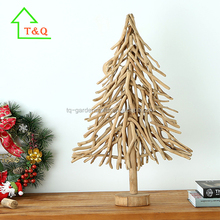 2016 Unique Artificial Wooden Christmas tree, raw material for handicrafts