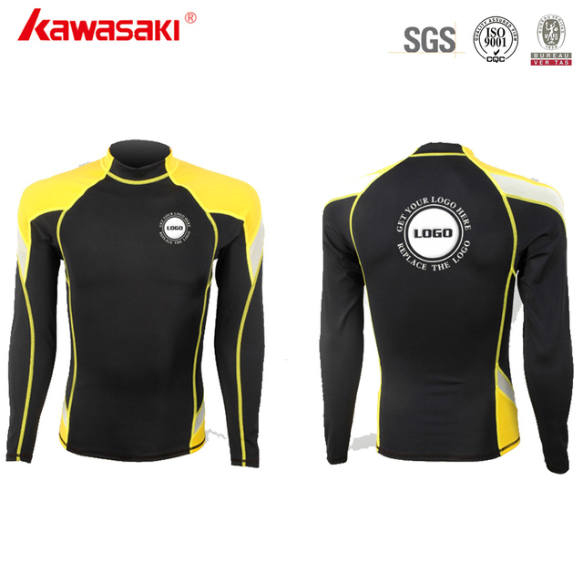 Professional Custom Mens Sublimated Compression Shirt Long Sleeve