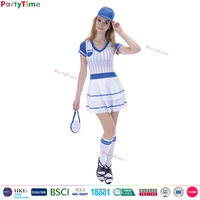 TGT01 wholesale party halloween carnival drsses sexy sports girls short sleeve dress baseball costume