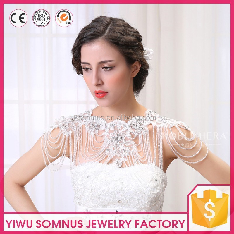 New fashion women shoulder chain jewelry rhinestone crystal bridal accessories