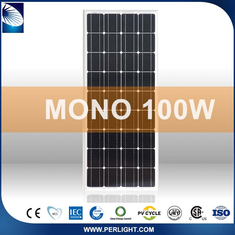 Hot Selling Roof Solar Panel 100W Mono For System