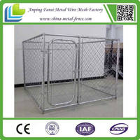 outdoor chain link fence dog kennels with waterproof cover