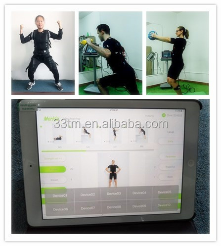 EMS body shaper slimming machine with electrode jacket / ems suit