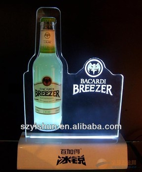 custom manufacturing Acrylic LED display Light Box,acrylic LED wine holder