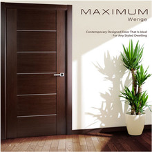 Fancy design pvc coated MDF wooden main entry door for house