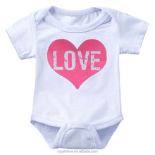 Summer clothing, LOVE printing, short sleeved triangle baby romper