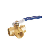 L/T type port Brass three way manual ball valve 1/2 1 2 inch 3 way ball valve