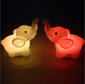 pvc led flashing elephant night light