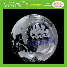 Optical Crystal Engraved Ball Paperweight Promotional Gifts