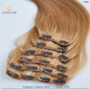 ZZH Full head thick ends 220g human remy clip in human hair extensions