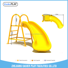 Outdoor kids plastic playground slide set for sale