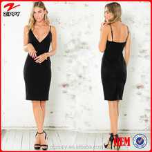 New arrival black casual bodycon dress online shopping hong kong