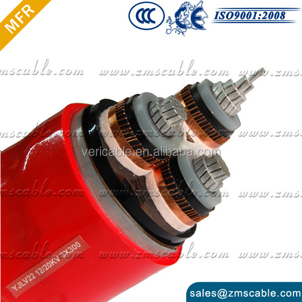 11KV MV Cu/Xlpe/Swa/Pvc Power Cable Electric Cable Price 4 Core 35mm2 Copper Cable 400 Sq Mm Heat Resistant