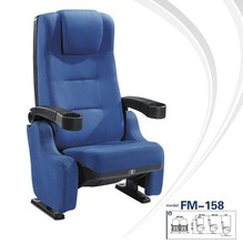 FM-158 Comfortable upholstery seating cinema chair with cup holder