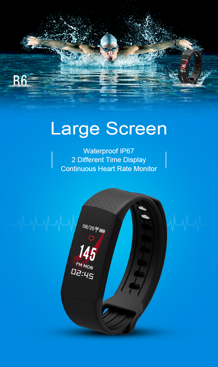 Customized heart rate wristband BT 4.0 wristband step counter