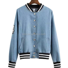 Wholesale Denim Baseball Jackets