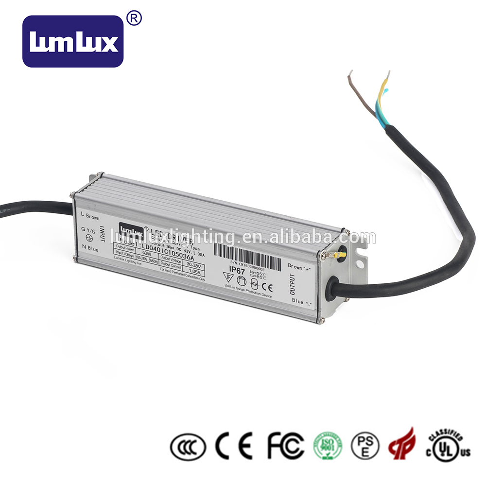 40W waterproof IP67 led switching driver in the Southeast of China mainland 40W