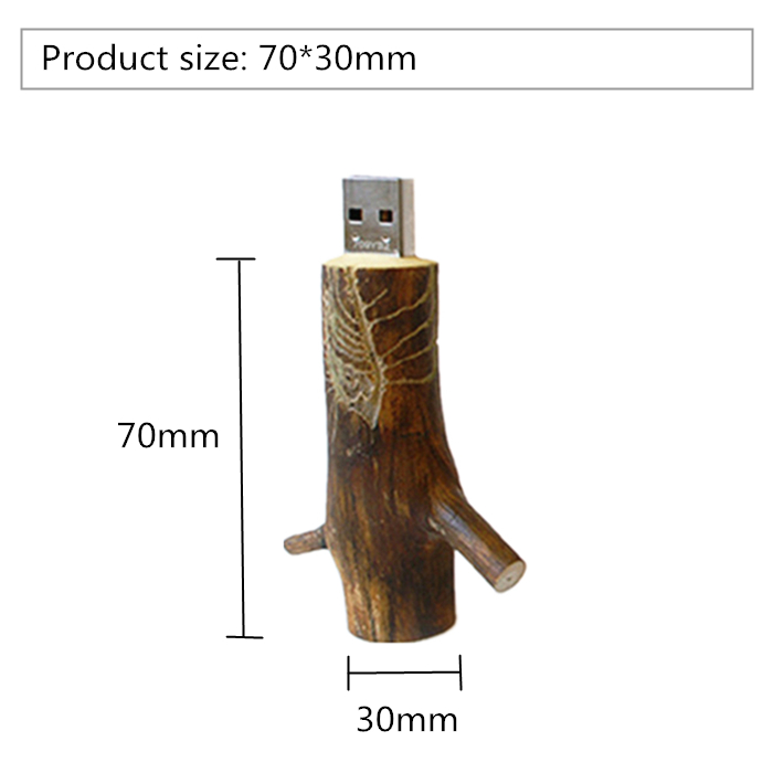 Creative Natural Wooden model tree branch USB Flash drives for promotion gift