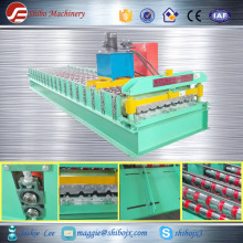 New style Automatic Roof Ridge Cap Tile Cold Roll Forming Machine/Glazed Aluminum Metal Rib Roof Ridge Forming