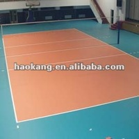 PVC Volleyball court sports flooring in rolls