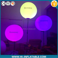 fashion inflatable standing tripus LED balloon, glowing inflatable LED ball light with tripod for ceremony