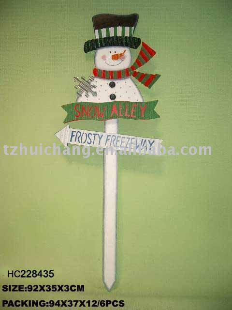 wooden garden ornaments holiday Yard Stake
