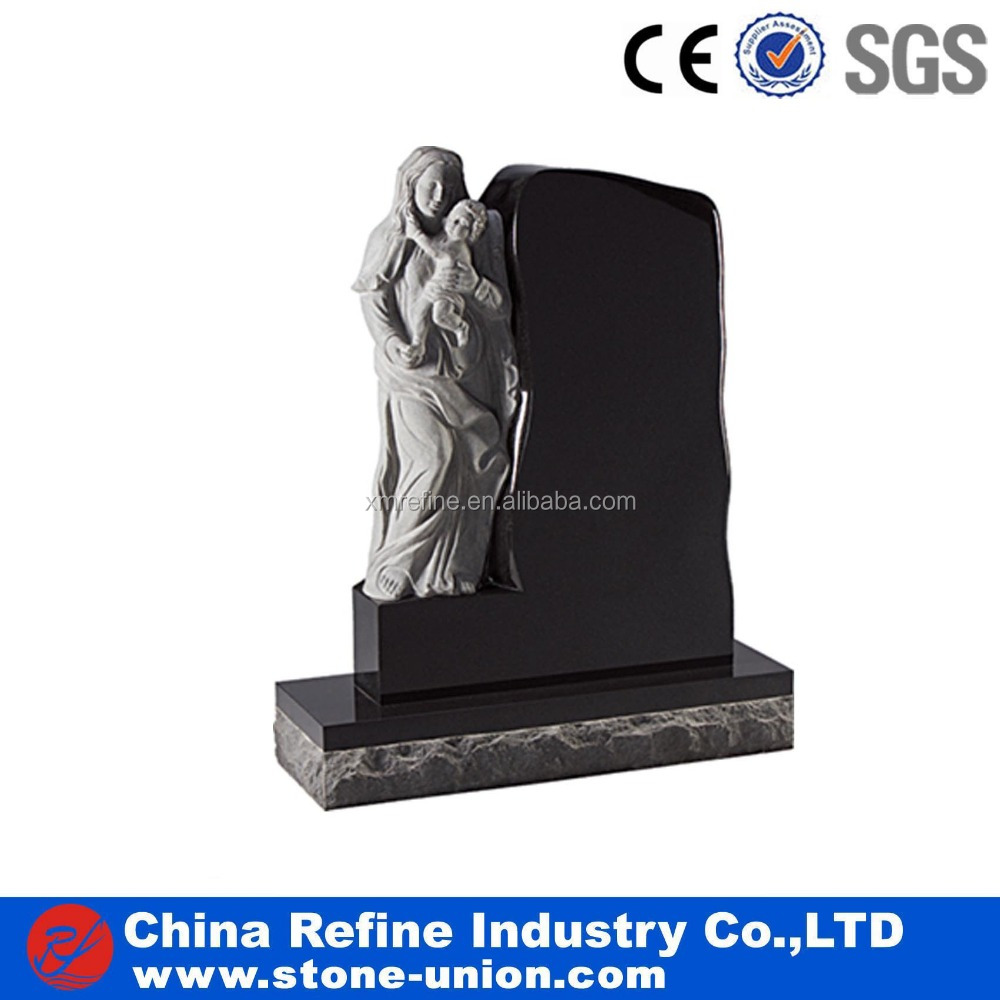 Black engraved stones cemetery monument designs