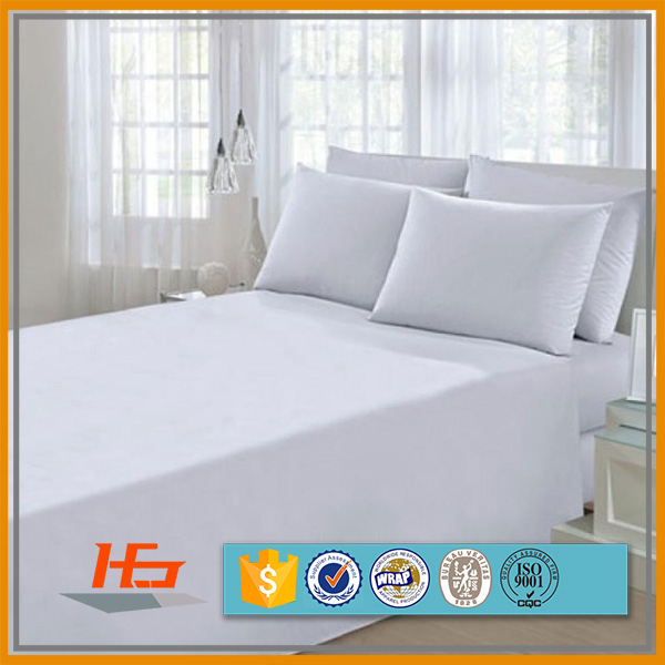 Hospital Bed Linen White Polyester Cotton Percale 200T Flat Sheet