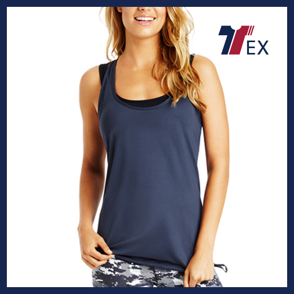 Fashionable custom 95% cotton 5% spandex tank top wholesale Factory supply