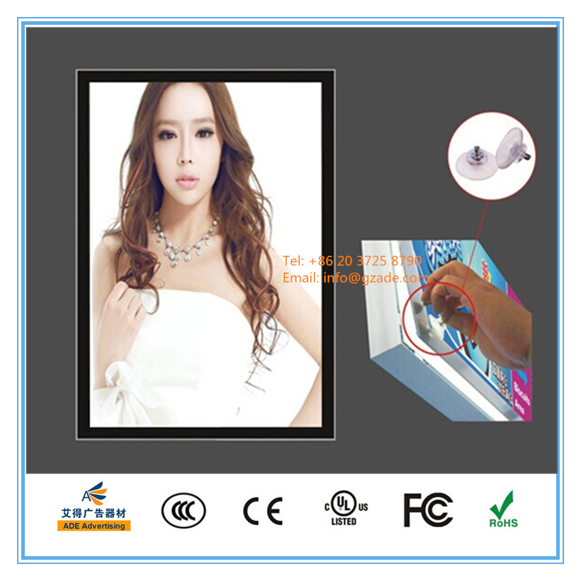 Super slim aluminum frame led magnetic light box in size A4, A3, A2, A1, A0, B4, B3, B2, B1, B0
