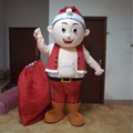 Hola fat santa claus mascot costume for adult