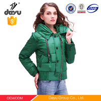 Warm Hoodie Overcoat winter jacket Feather Padded Jacket ladies Jackets apparel stock