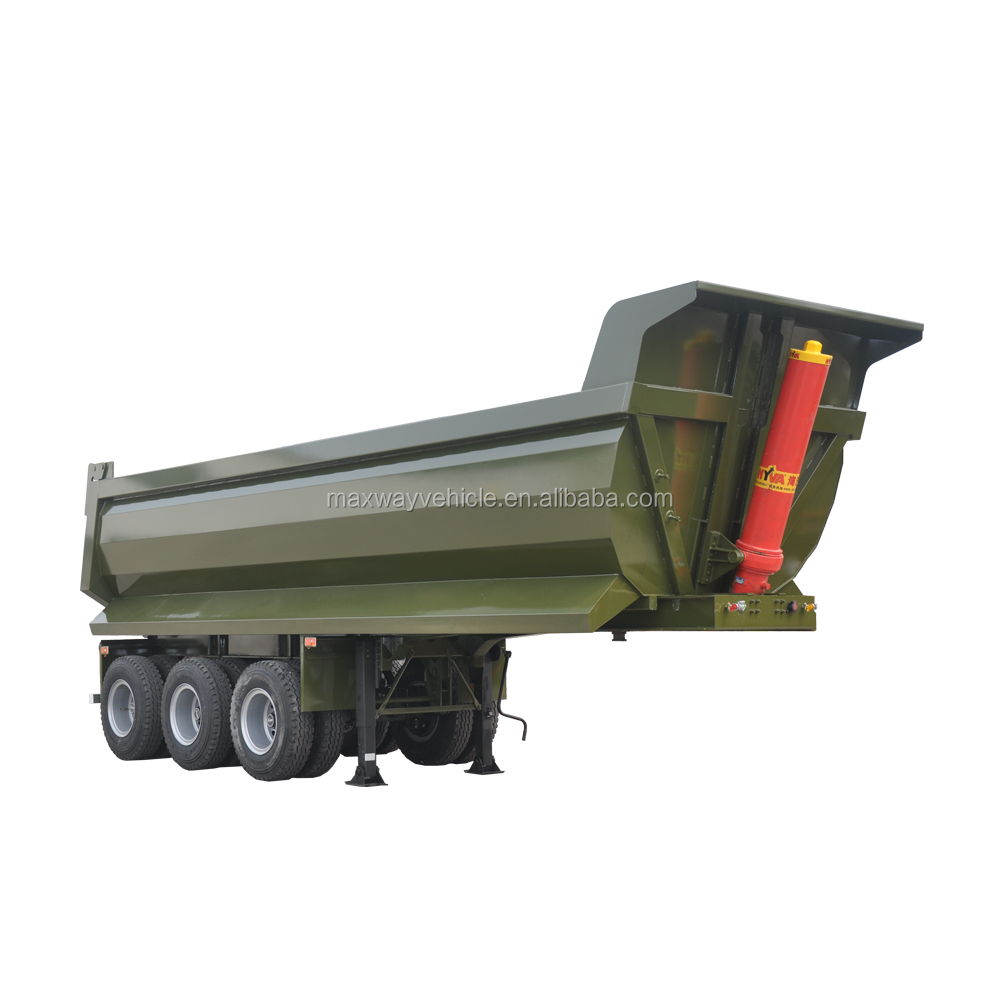 3 Axle 40 Ton Cheap Price Heavy Duty Dump Semi Trailer Truck Tipper Trailer