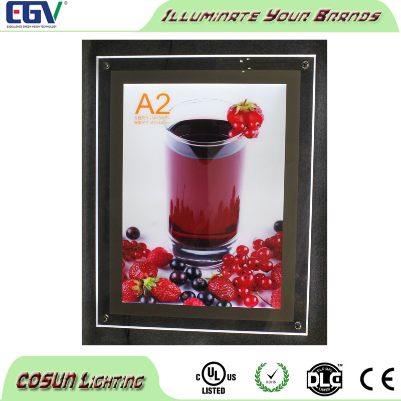 Ultra Slim Clear Crystal LED Light Box/LED Display Board/Advertising LED Picture Frame