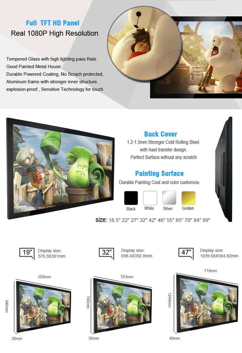 43 inch From samsung lcd tv china lcd display kiosk wall tv monitor kiosk media player digital signage