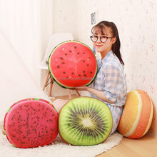Beautiful Super Soft Cartoon 3d Fruit Shaped Toys Pillow For Kids Grils