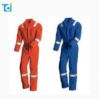 Competitive price safety 2-piece pant shirt cotton coverall