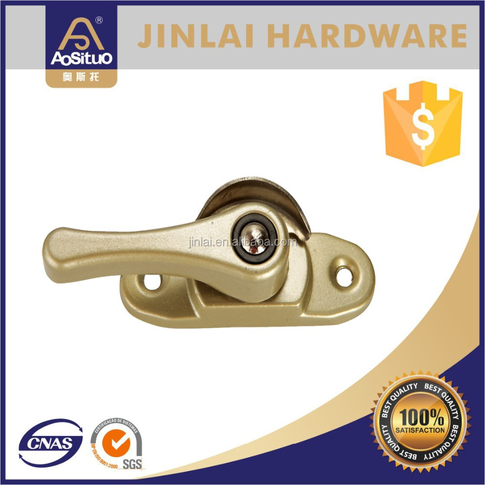 Special half moon shape style crescent window lock , crescent casement latch with handle type for PVC window