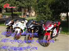 Water cooled racing motorcycles, two big mufflers, 250cc/300cc, 2016
