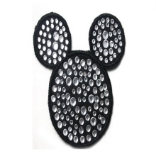 hot sale mouse rhinestone heat transfer design BK-MTF287