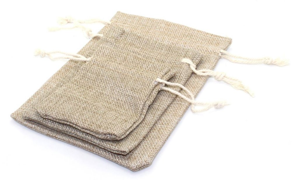 custom wholesale drawstring jute burlap material bag fruit bag