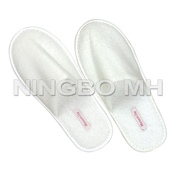 Disposable Polyester Terry Bath Slipper for Hotel SPA