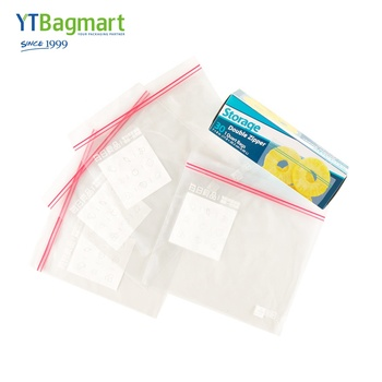 YTBagmart Food Grade Clear Sandwich Freezer Storage Bag Resealable Ldpe Zipper Lock Bag