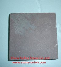 Brown slate roof tiles