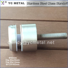 304 Stainless Steel 50 MM Diam Satin Glass Railing Standoffs For Glass