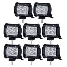 USA FREE SHIPPING 8pcs 4inch 18W Pod Flood 12V24V Truck 4WD Offroad Driving Lamp LED Work Light