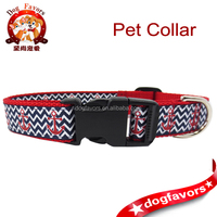 Dog Collars - Dog Harnesses and Dog Leashes Available Online Sale, Large Anchor and Chevron Pet Collar