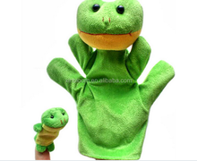 baby's education green plush frog model hand and finger puppet 2 in imal grey muse model finger pupet toy doll with 7 cm an