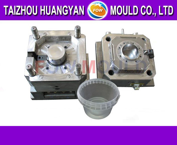 food plastic thin wall ice cream container IML injection mould